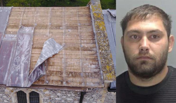 Românul care a furat tabla de pe o biserică veche de 800 de ani