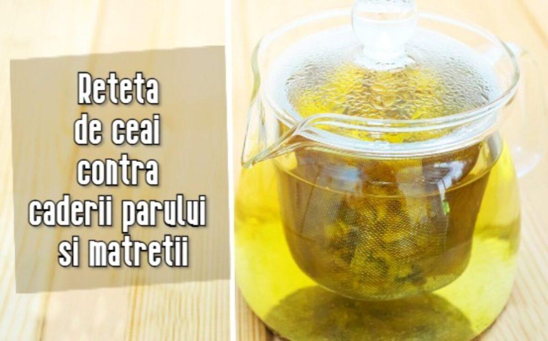 Rețetă de ceai contra căderii părului şi mătreţii